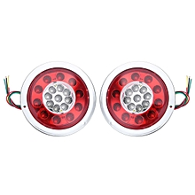 2pcs Waterproof 19 LED Tail Light for Trailer Truck Turn Signal Stop Light MA765