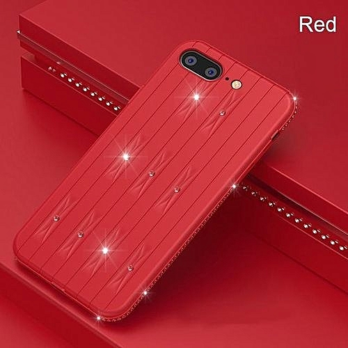low cost f0394 7a21b Flexible Fitted Phone Cases For IPhone 8 Soft TPU Anti Skid Shock Resistant  Full Protecting For IPhone 8 Cases - Red