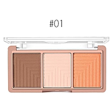 3 Colors Trimming Professional New Makeup Face Powder Highlighter Powder Palette