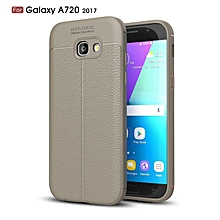 PU Leather Litchi Pattern Case For Samsung Galaxy A720 Soft TPU Silicone Back Cover For Samsung A7 2017 A720F Case Cover