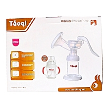 Taoqi Manual Baby Breast Pump with a free bottle - clear