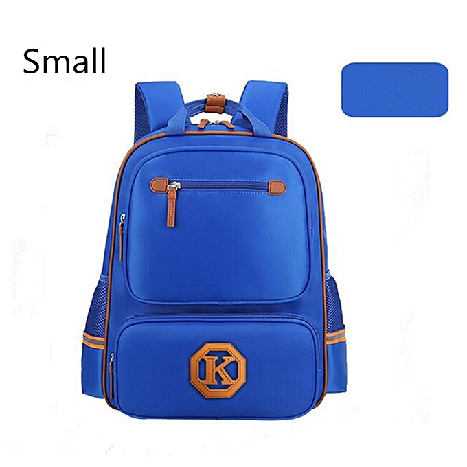 0471718948 Girls Boys Nylon Backpack School Student Book Bag Child Shoulder Travel  Satchel Blue
