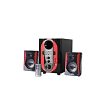 FOL-2401--2.1CH Multimedia Speaker - Black & Red