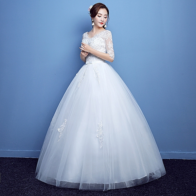 Afankara Princess Lace Wedding Dress Ball Gown Best Price Jumia