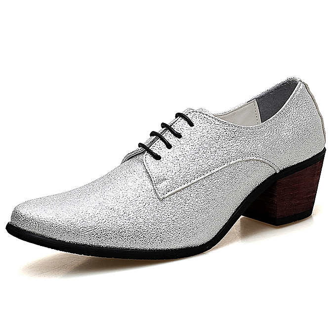 High Heels Formal Office Shoes Men S Sequins Parts Casual