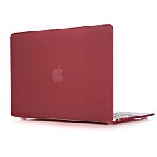 """For 12"""" Macbook Case, Matt Hard Rubberized Cover For A1534 Macbook 12 Inch, Wine Red"""