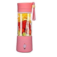 Portable Blender Juicer Cup / Electric Fruit Mixer / USB Rechargeable Juice Blender 380mL -Pink