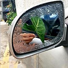 Car Oval PET Rearview Mirror Protective Window Clear Anti-fog Waterproof Rain Shield Film, Size:10*14cm