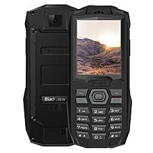 BV1000 Rugged Phone, 2.4 Inch (32MB RAM + 32MB ROM), 3000mAh Battery, 2G, Dual SIM - Black