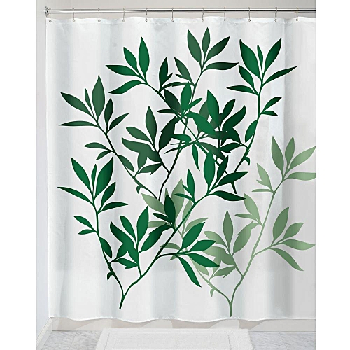 Honana 71 X Leaves Fabric Shower Curtain European Printing Waterproof Anti Mildew