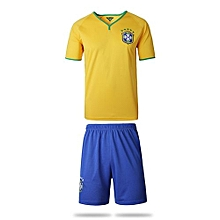 Brazil Home Jersey And Shorts For Women (Yellow)