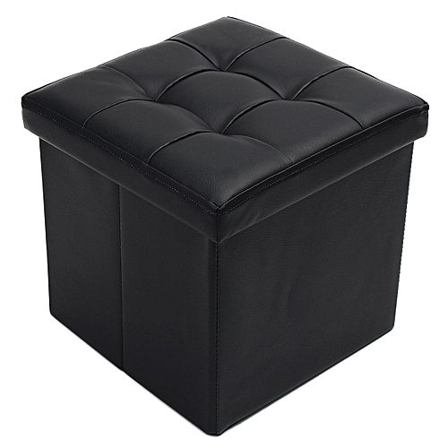 Generic Leather Footstool Sofa Ottoman Folding Footrest Seat Lounge
