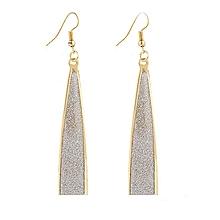 1Pair Women Alloy Drop Shape Dangle Earings Eardrop Jewelry GD-(Gold)