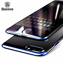 Baseus PC Hard Case For iPhone 8 plus Cover For iPhone 8 Plus Case Anti-scratch Electroplating Protective Phone Bag Shell Coque (Blue) MQSHOP