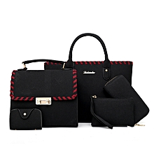 4 in 1 Black Velvet Handbag Set