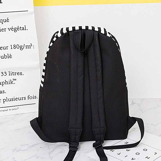 38cbd0f0c538 ... koaisd Unisex Canvas Letter Backpack Outdoor Travel Backpack Student Bag  Shoulder Bag ...