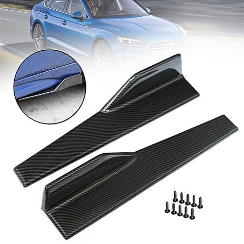 Beautylady Universal Car Body Side Skirts Rocker Splitters Canard Diffuser Wings PP Plastic Splitters Extensions