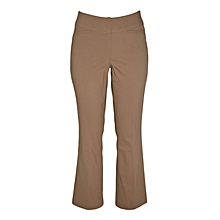 Toffee Flared Leg Pull On Classic Pants
