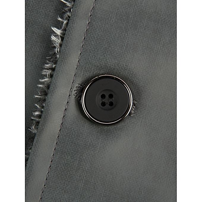 fa4490501828b ... Fashion Leadsmart Epaulet Design Stand Collar Single Breasted Coat ...