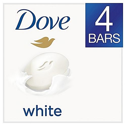 Dove Soap Beauty Bar White  - 4 Pieces