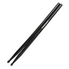 2 Pieces 40cm Maple Wood Drum Sticks 5A Music Band Drumsticks (Black)