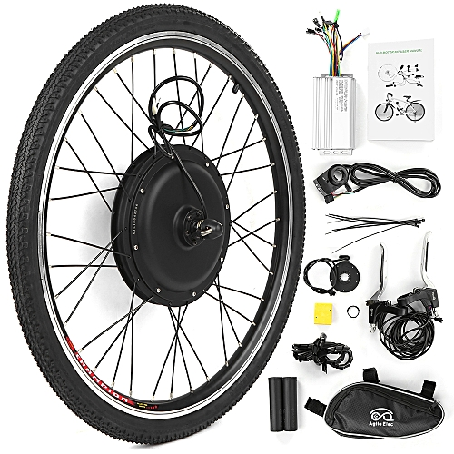 26x1 75'' Electric Bike Conversion Kit Bike Rear Wheel Hub Motor Kit 48V  1000W Powerful E-Bike Motor Kit Brushless Controller PAS Signal Light Bike