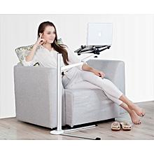Height adjust musician floor bed stand-IPAD Pro/IPAD/tablet/iPhone/KINDLE- 2 Arm