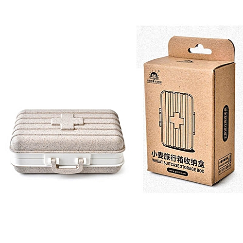 Mini Medicine Pill Box Outdoor Camping Medical Bag Tactical Military First  Aid Kit Family Care Travel Car Emergency Survival Kit(#Beige)