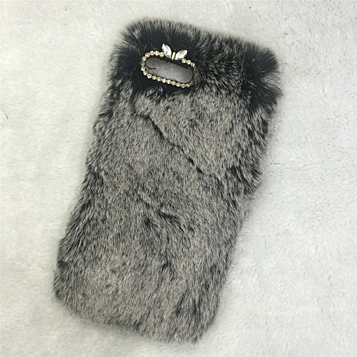 timeless design e3eec ce60f Fashion Fluffy Warm Soft Wool Rabbit Fur iPhone Case Cover for iPhone  Series white&black iPhone 5/5s