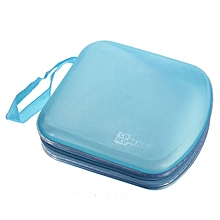 40 Disc CD DVD VCD Storage Holder Sleeve Case Hard Box Wallet Carry Bag Zipper Blue