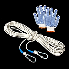 10/20/30/50M 8mm Mountaineering Climbing Sport Survival Recovery Rope Carabiner # 20m