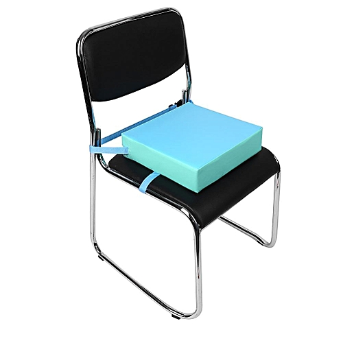 1pc Adjustable Dining Chair Booster Cushion Kids Children Highchair Seat Pad Top Surface Blue