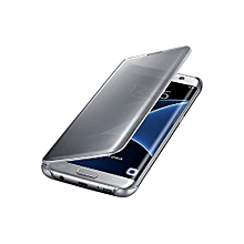 Galaxy S7 Edge Clear View Cover - Silver