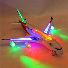 Airplane Electric Toy Toy Airbus A380 With Luminous Color Music -Multicolor