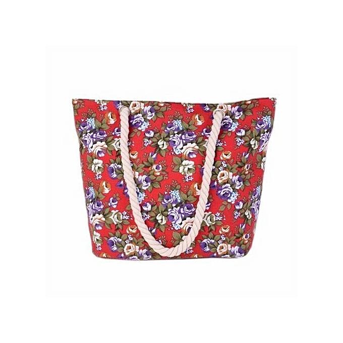 557982dc33 bluerdream-Women Canvas Handbag Tote Messenger Beach Shoulder Satchel Bag  RD- Red