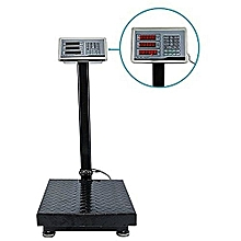 300Kgs - Digital Pricing Electronic Flatbed Platform Weighing Scales - Stainless Steel