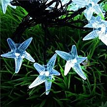 Solar Christmas Light String 30led Starfish Festive Lights Outdoor Decorative String Lights Blue