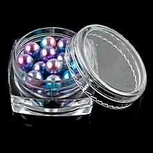 Mermaid Nail Gradient Pearls Sequins Glitter Dazzling Manicure Nail Art Decorati-Multicolor