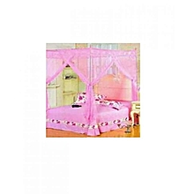 Mosquito Net with Metallic Stand - 6x6 - pink
