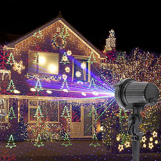 Generic ALIEN RGB Remote Static Star Christmas Tree Snowflake Laser Light Projector Garden Outdoor Waterproof Xmas Holiday Shower Lights WOEDB