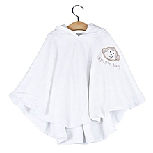 Girls Velvet Baby Cloak - White