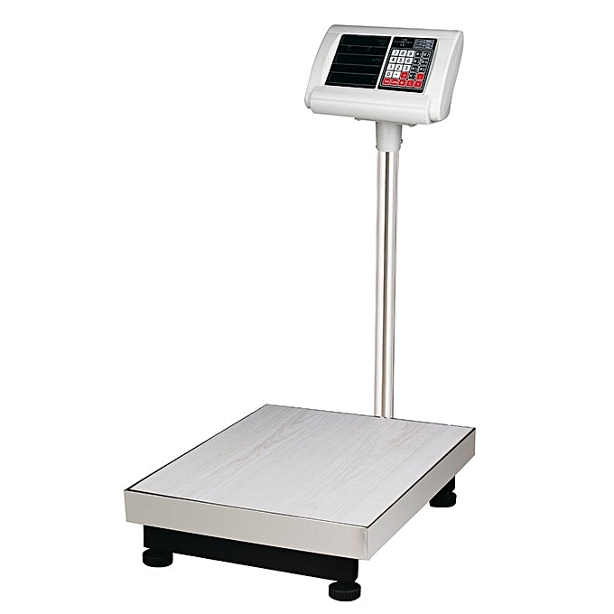 b24a83b3fe93 100KGS - Digital Weigh Scale Price Weight Computing Electronic Industrial  Platform Weighing Scale -Grey Silver