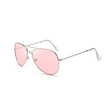 Ms Dazzle Colour Uv400 Stylish Polarized Sunglasses (transparent Pink)