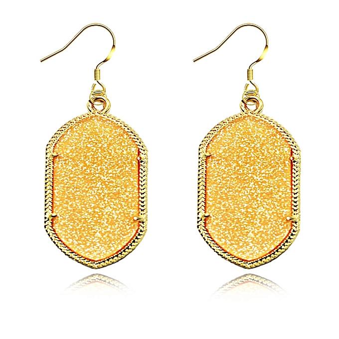 1pair 8 Colors Fashion Fluorescence Geometric Shapes Rhombus Acrylic Earrings Dangle Earring Women Jewelry Leaf