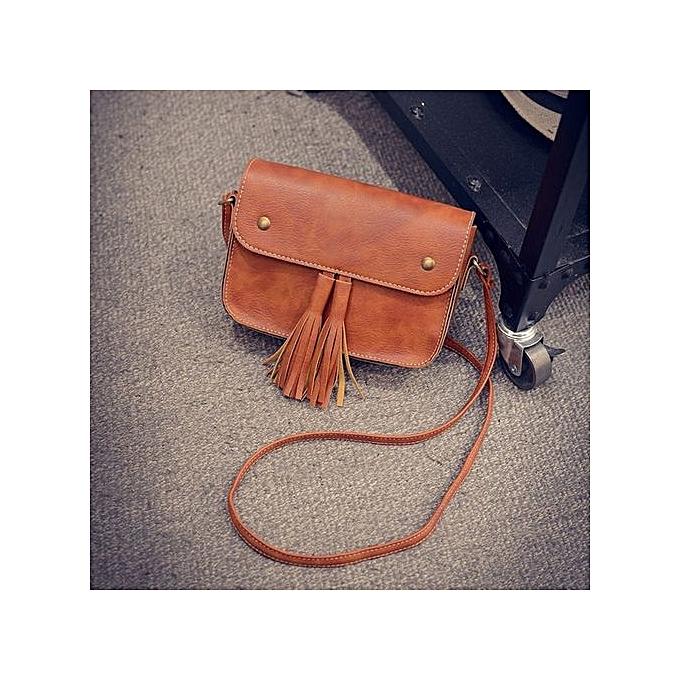 bluerdream-Women Handbags Small Messenger Bags Crossbody Shoulder Bags  Clutch Purse Bag BW-Brown 4a05c5239