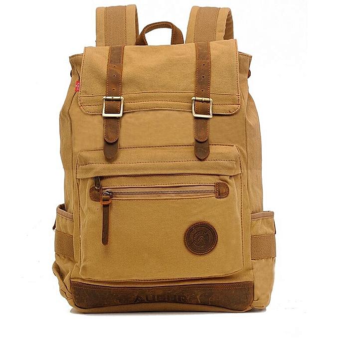 Generic Fashion Men Backpack Canvas Travel Laptop Backpacks   Best ... 9ae8f1ac813b3