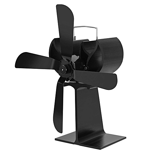 0b4f3767 Allwin 4 Blades Thermal Power Fireplace Stove Fan Heat Powered Wood Stove  Fan Black @ Best Price Online | Jumia Kenya