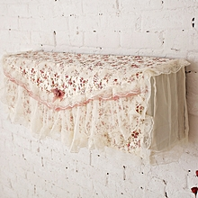 Pastoral Lace Fabric Flower Hook Cover Cotton Air Conditioning Cover Cloth Dust Cover  100cm