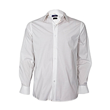 White Long Sleeved Slim Fit Shirt