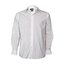 White Long Sleeved Slim Fit Shirt